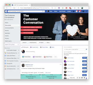 The Customer Conversation Facebook by Customer Frame