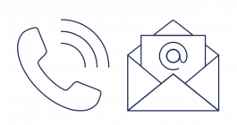 Customer Frame Landing Page - Become a Customer-led Council - Phone + Envelope Icons